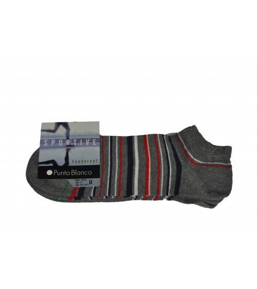 2 pack of sport cotton socks Punto Blanco stripes