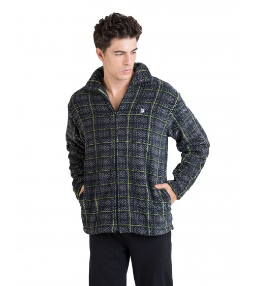SHORT WINTER MAN'S GOWN MASSANA CHECKED