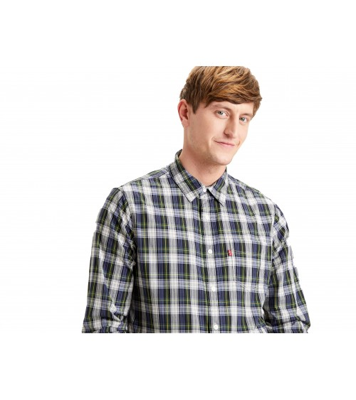 MEN'S LONG SLEEVED LEVIS CHECKED SHIRT WITH POCKET