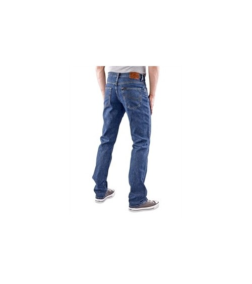 Mens Lee Jeans Original BROOKLYN STRAIGHT Zip Fly Denim Trousers