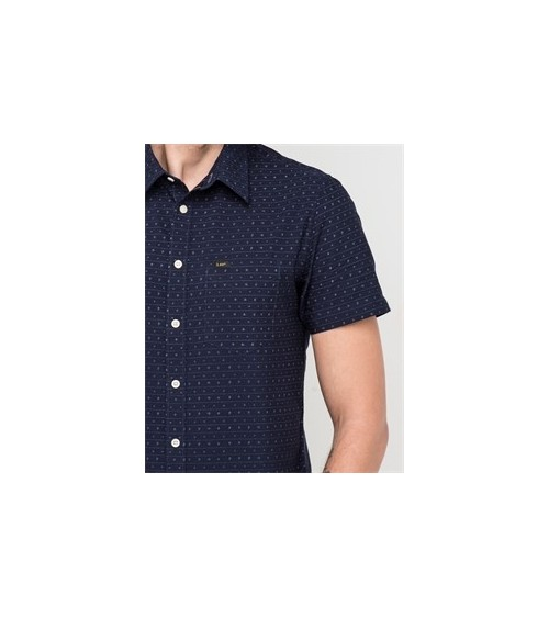 CAMISA LEE MANGA CORTA SLIM NAVY
