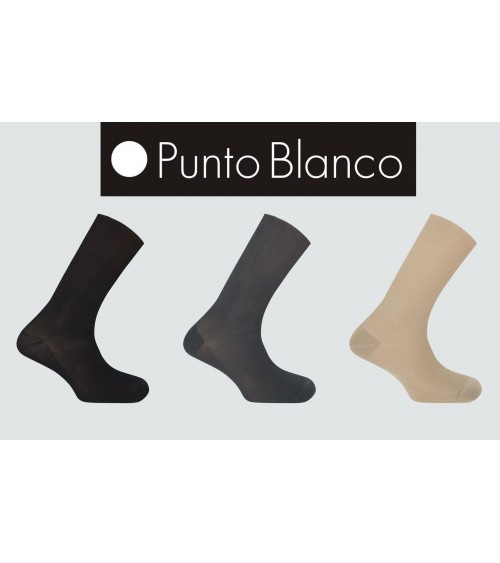 Mens Dress Socks Cotton Punto Blanco TenteSolo Non Elastic Soft Top