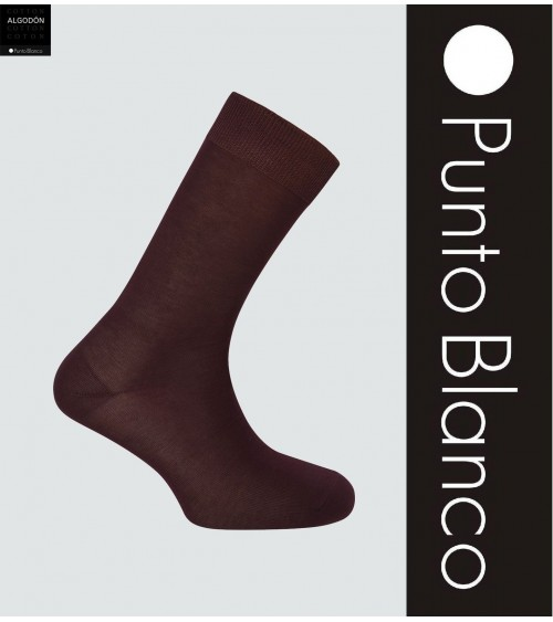 Mens Socks PUNTO BLANCO Mercerized Cotton Plain Sock Basic Model