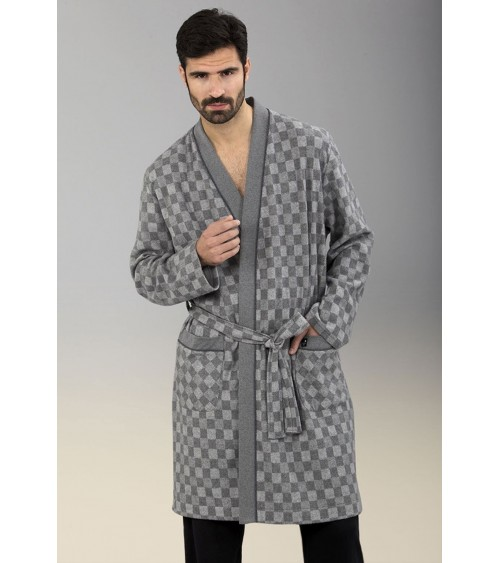 Mens thin Dressing Gown MASSANA Soft Winter Nightwear