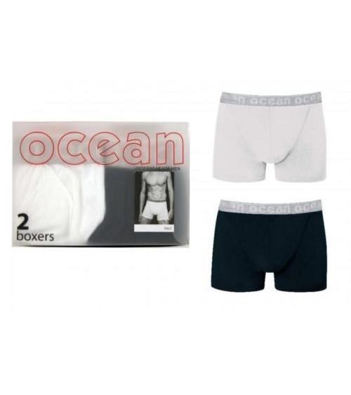Calzoncillos Hombre OCEAN Pack 2 Boxers Algodón
