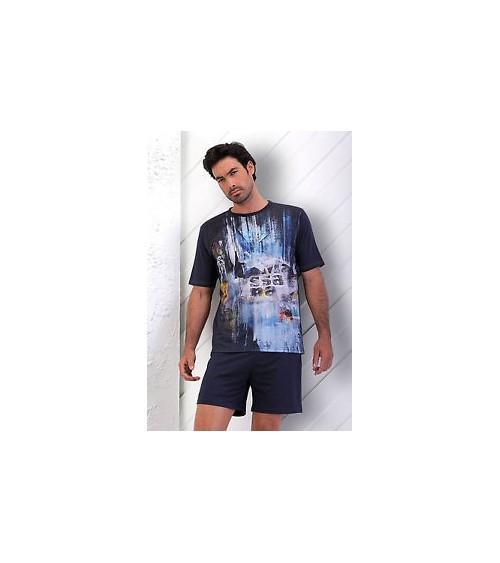 Pijama verano Hombre Estampado MASSANA Blue World