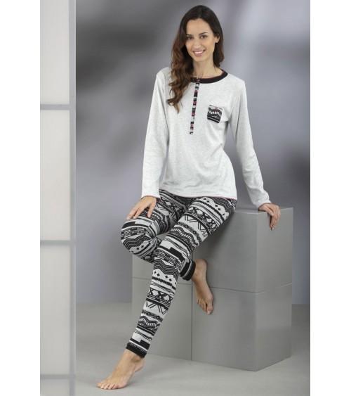 Pijama Invierno Mujer MASSANA suave y cálido
