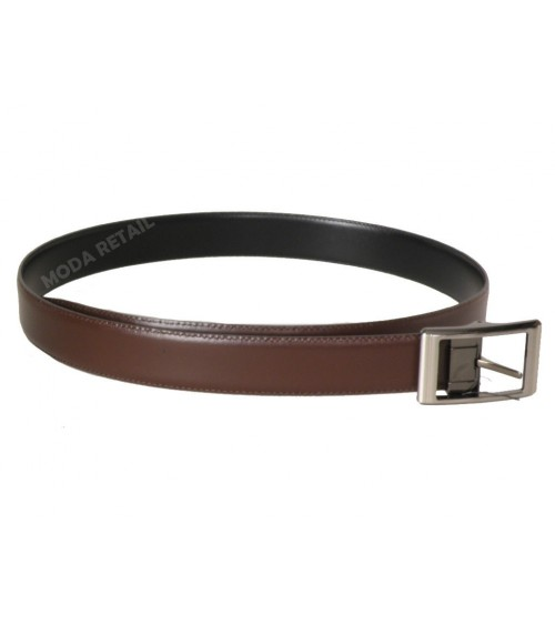 "Mens Top Quality Leather Belt POSSUM Reversible Black/Brown ""California"""