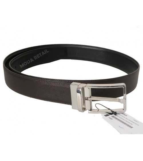 Mens Top Quality Leather Belt POSSUM Reversible Black/Brown Classic Belt