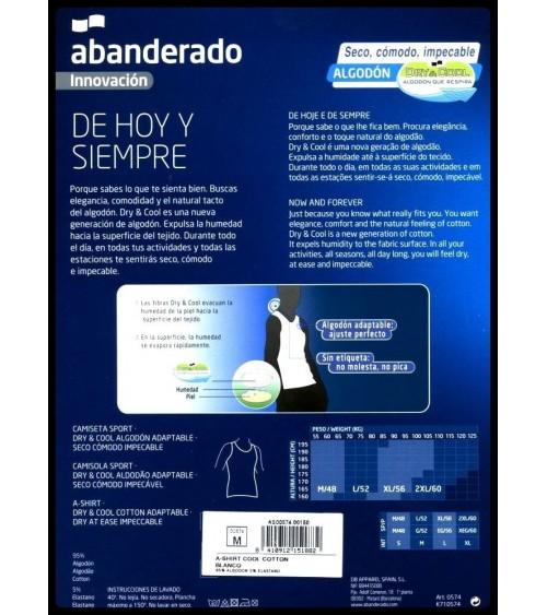 CAMISETA INTERIOR  ABANDERADO DRY&COOL BLANCA
