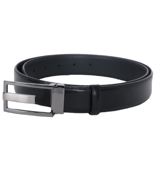 Mens Leather Belt modern GILMART Black Top Quality special BUCKLE