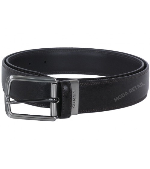 BELT GILMART, CAMBERED SIDE DOUBLE STITCHED LEATHER